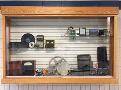 Blast from the past : Old tech. vs. new tech. Display at MEI Secondary Library