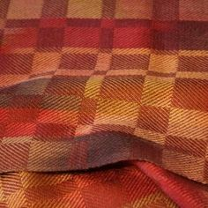 Hand woven silk scarf, hand painted with natural dyes of madder, cochineal, brazilwodd, henna, yellow root, annatto and logwood.