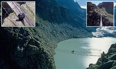 360-degree video lets you edge along scary Alpine suspension bridge #DailyMail