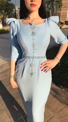 Dress and beauty color Abaya Fashion, Muslim Fashion, Modest Fashion, Fashion Dresses, Hijab Evening Dress, Hijab Dress Party, Evening Dresses, Elegant Dresses For Women, Dressy Dresses
