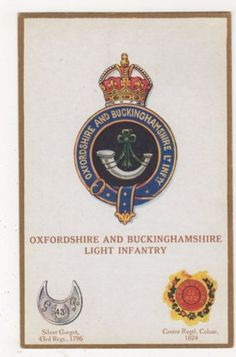 Oxfordshire-Buckinghamshire-Light-Infantry-G-P-1682-Postcard-B284