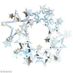 Envie d'une superbe couronne de Noël étoile ? Les étoiles en bois customisées à l'aide du pyrograveur, une fois assemblées, formeront une très belle couronne décorative, originale et naturelle. Plus de 2500 Tutos et DIY sur Creavea.com- Leader Français du loisir créatif!