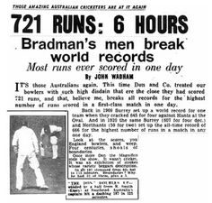 Early on the legendary Invincibles tour of 1948, Essex managed something few others teams achieved that summer - they bowled out the Australians, Don Bradman and all, and did so inside a day. The only problem was the tourists rattled up 721 before they were dismissed.