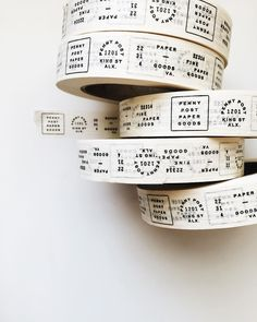 Stitch Design Co . design packaging / Love the idea of a good custom designed tape. Such great work! Font Design, Graphic Design Branding, Advertising Design, Identity Design, Design Tape, Identity Branding, Tag Design, Advertising Agency, Corporate Design