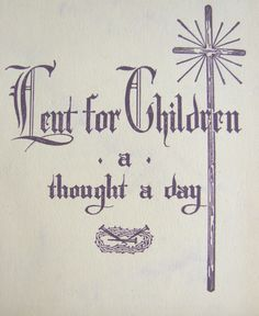 Lent for Children Printable