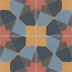 Carreaux de ciment - décors 4 carreaux - Carreau SAGA 13.14.30.15.32 - Couleurs & Matières