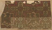 Brocade Textile,  13th century, Italy Silk, gold thread, Dimensions: 10.2 x 25.4 cm