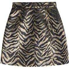 Roberto Cavalli Jacquard Mini Skirt ($240) ❤ liked on Polyvore featuring skirts, mini skirts, bottoms, multicolored, short skirts, black and gold skirt, short mini skirts, striped mini skirt and stripe skirts