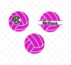 Volleyball Ball SVG Cut Files for Cricut and Silhouette
