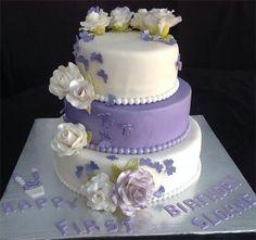 A Beautiful 1st Birthday Cake