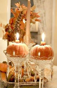 Pretty Table Decoration For Thanksgiving....
