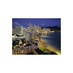 Waikiki Beach, Honolulu, Oahu, Hawaii, USA Photographic Wall Art Print (350 NOK) ❤ liked on Polyvore featuring home, home decor, wall art, collections, jon arnold images, photography collections, subjects, mounted wall art, photography posters and beach wall art
