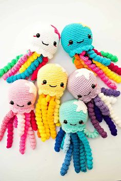 make a cute Crochet Octopus Pattern/ Amigurumi Octopus / Amigurumi All things crochet by LilCrochetLove Browse unique items from LilCrochetLove on Etsy, a global marketplace of handmade, vintage and creative goods. Cute Crochet Octopus toy for Preemi Crochet Baby Toys, Crochet Diy, Crochet Toys Patterns, Crochet Gifts, Amigurumi Patterns, Stuffed Toys Patterns, Crochet Dolls, Crochet Designs, Crocheted Jellyfish