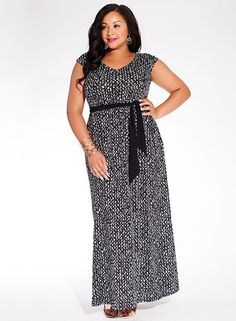 98c1f9489db9d Tiana Maxi Dress in Black Crosshatch Plus Size Maxi Dresses