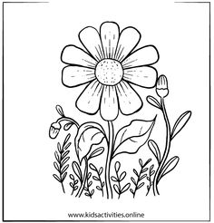 Spring Flowers Coloring Pages For Adults Printable ⋆ Kids Activities Rose Coloring Pages, Spring Coloring Pages, Mandala Coloring Pages, Coloring Books, Colouring Sheets For Adults, Free Coloring Sheets, Printable Adult Coloring Pages, Simple Paper Flower, Easy Mother's Day Crafts