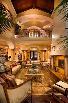 Luxury Homes Interior Designs With Elegant Furniture And Archway With Pilars And Indoor Plants , Grandeur Luxury Homes Interior Designs In Home Design and Decor Category Home Interior Design, Interior Architecture, Interior And Exterior, Luxury Interior, Mansion Interior, Room Interior, Mansion Rooms, Modern Interior, Future House