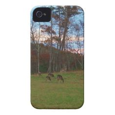 Field of Deer & a Pink SunSet iPhone 4 Cases