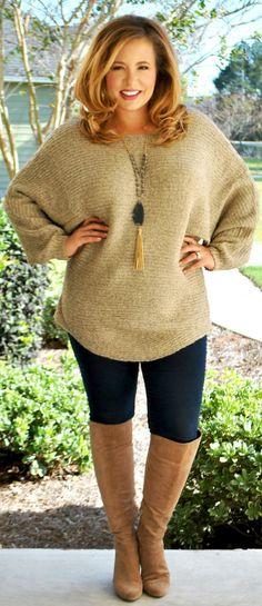 Perfectly Priscilla Boutique - Cocoa And Cuddles Sweater, $41.00 (http://www.perfectlypriscilla.com/cocoa-and-cuddles-sweater/)