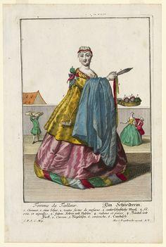 Tailor's Wife, Martin Engelbrecht, ca. 1730; Winterthur 1955.135.2