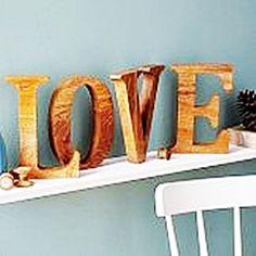 Mango Holzbuchstaben - Ein Liebesbeweiss