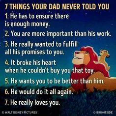 Your dad never told you