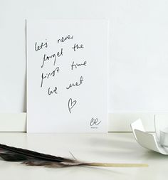 BEdesign_Let's Never Forget_Card_handwritte_A6 kortti