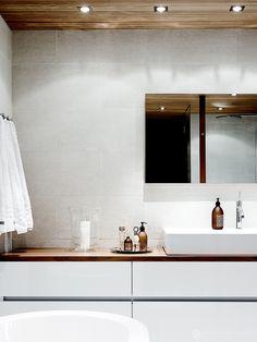 INTERIOR…HOTELLI HIMA » Krista Keltanen Blog Bathroom Inspo, Bad, Bathroom Lighting, Tiles, Mirror, Interior, Furniture, Design, Home Decor