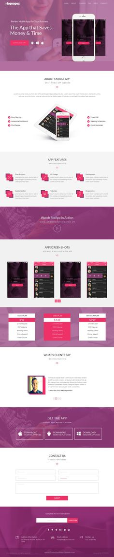 Rio Pagez Multipurpose Bootstrap Landing Pages Template for viral marketing. #app #software #website Download Now!