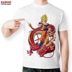 805d79042 Anime Series Dragon Ball Z Short Sleeve Printed Tshirt Men Casual Funny  Super Saiyan. Goku Super Saiyan 3Goku T ShirtDragon ...