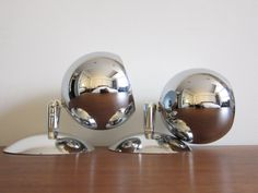 Vintage Mod Eyeball Lamps Chrome 1970s by ModernSquirrel on Etsy, $145.00