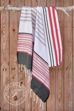 Fouta Cinq couleurs Turkish Towels, Dish Towels, Loom, Shawl, Hand Weaving, Fabrics, Stripes, Gifts, Bags