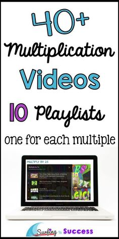 Are your students working on multiplication fluency? Multiplication videos are a great way to help students learn to count by multiples. Aligns with CCSS by helping students memorize multiplication facts Student Learning, Teaching Math, Teaching Time, Teaching Ideas, Learning Tools, Kids Learning, Teaching Boys, Teaching Strategies, Multiplication Songs