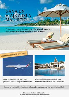 Gana un viaje a Isla Mauricio