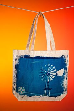 Windmill Cyanotype Bag