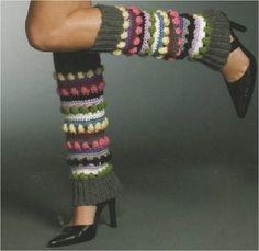 Crochet legwarmers. Free pattern.