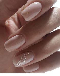 NagelDesign Elegant Some simple nails in contrast to this .- NagelDesign Elegant (some simple nails but so …) … - Classy Nails, Trendy Nails, Classy Acrylic Nails, Hair And Nails, My Nails, Nagel Blog, Nail Polish, Nail Nail, Bride Nails