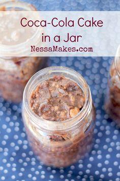 coca-cola cake in a jar recipe #shareacoke #ad