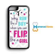 A requested design from one of our customers, we loved it so much we added it to the shop! This gymnastics iPhone case for girls is a perfect