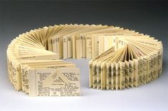 Margaret Suchland - Ode to Dewey • Concertina-style book made from a collection of rescued dewey decimal cards from various libraries