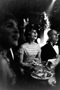 udrey Hepburn photographed at a gala honoring the film The Longest Day, held at the Palais De Chaillot in Paris, on October 26, 1962.