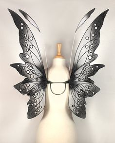 Fairy wings - Ideal for fairy costume, fairy photography - Black and white fairy wings - Dana Design. $185.00, via Etsy.