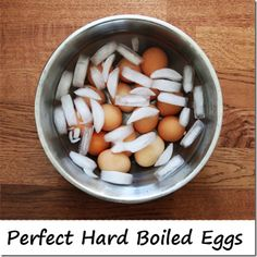Hard boiled eggs are a healthy snack for kids all year round. This is our favorite method for making perfect hard boiled eggs that are easy to peel - every time. Cooking Tips, Cooking Recipes, Healthy Recipes, Perfect Hard Boiled Eggs, Perfect Eggs, Food Hacks, Food Tips, Food Ideas, Food Inspiration