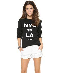 Ribbed Sweatshirt with NYC Print