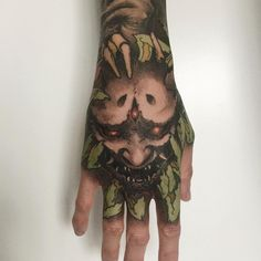 Domain Default page Oni Tattoo, Mask Tattoo, Piercing Tattoo, Japanese Hand Tattoos, Tattoo Brazo, Fu Dog, Hand Tats, Asian Tattoos, Japan Tattoo