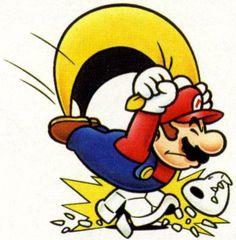Cape Mario landing on a Dry Bones | Super Mario World