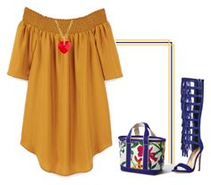 """""""Holding on to summer!"""" by lollahs ❤ liked on Polyvore featuring Lands' End, JustFab and MANGO"""