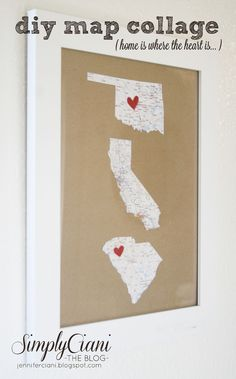 Simply Ciani: A Pinterest project a day - website for state maps like the ones shown...