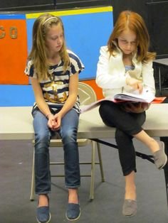 """Our """"Annie's"""" rehearsing at Spokane Civic Theatre, Directed by Yvonne A.K. Johnson"""
