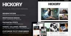 Hickory - A WordPress Magazine Theme • Download theme ➝…