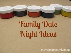 Family Date Night Ideas #FamilyFun love these ideas!!! Were gonna do them when we get a house!!